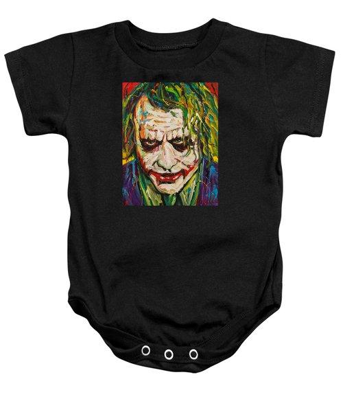 Joker Baby Onesie by Michael Wardle