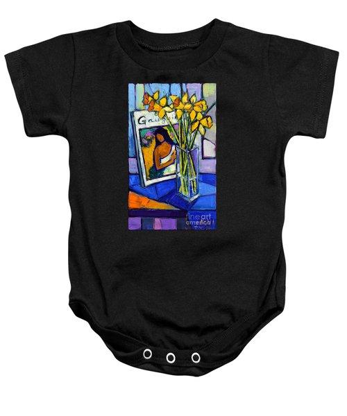 Jonquils And Gauguin Baby Onesie