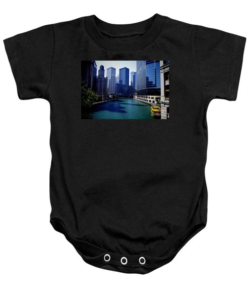 Kayaks On The Chicago River Baby Onesie