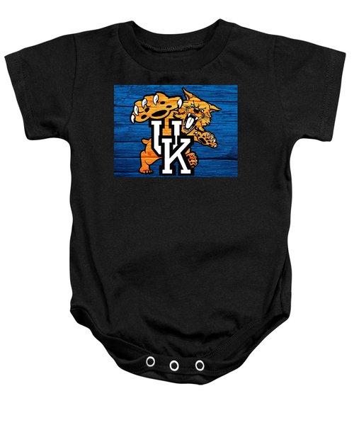 Kentucky Wildcats Barn Door Baby Onesie