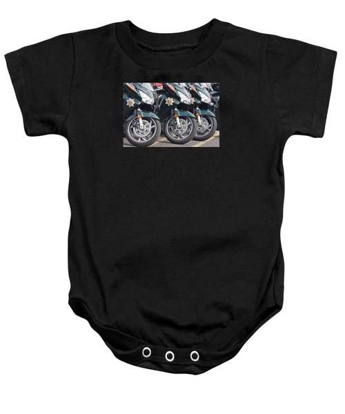 King County Police Motorcycle Baby Onesie