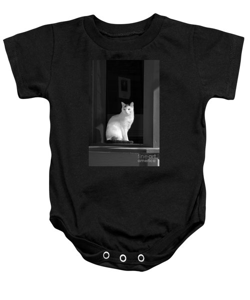 Kitty In The Window Baby Onesie