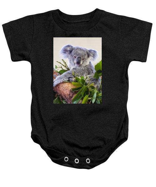 Koala On Top Of A Tree Baby Onesie