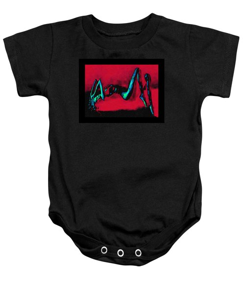 Lady On Red Baby Onesie