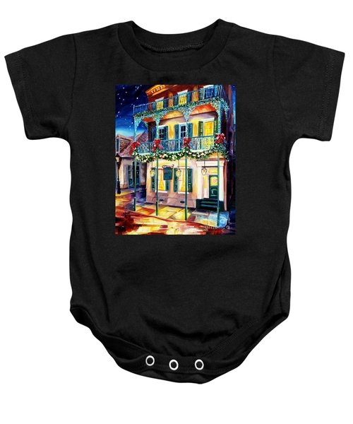 Lafitte Guest House At Christmas Baby Onesie