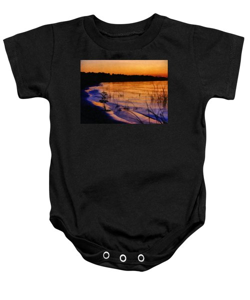 Lake Huron Sunset  Baby Onesie