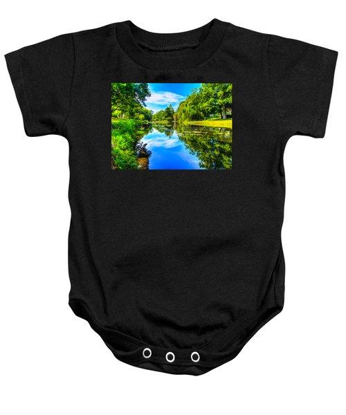 Lake Scene Baby Onesie