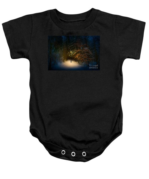 Lantern In The Wood Baby Onesie