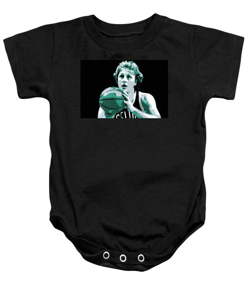 Larry Bird Poster Art Baby Onesie