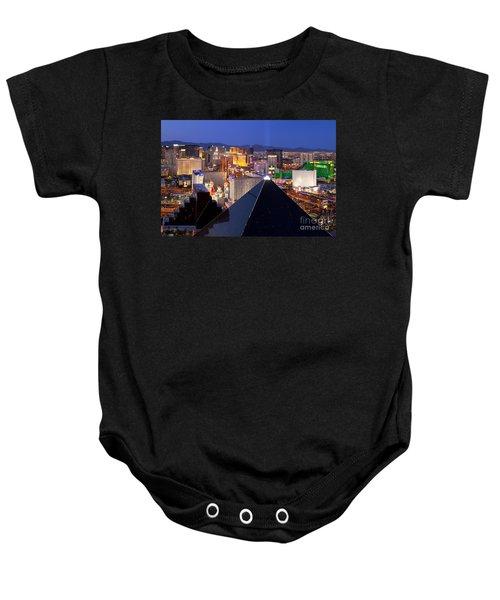 Las Vegas Skyline Baby Onesie