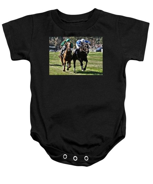 Last One To The Finish Line Is A Rotten Egg Baby Onesie