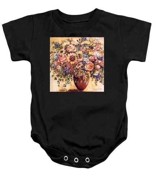 Late Summer Bouquet Baby Onesie