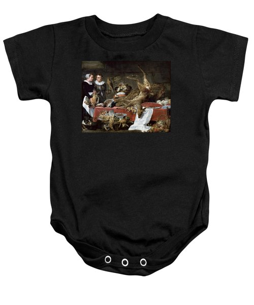 Le Cellier Oil On Canvas Baby Onesie by Frans Snyders or Snijders