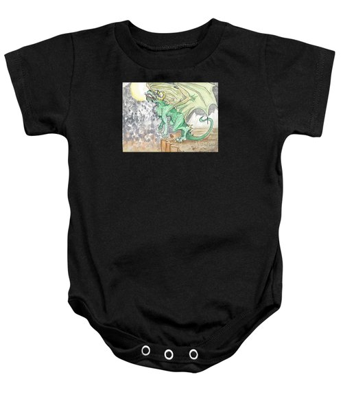 Leaping Dragon Baby Onesie