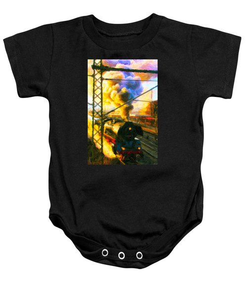 Leaving The Station Baby Onesie