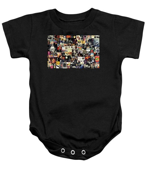 Led Zeppelin Collage Baby Onesie