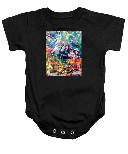 Led Zeppelin Original Painting Print  Baby Onesie by Ryan Rock Artist