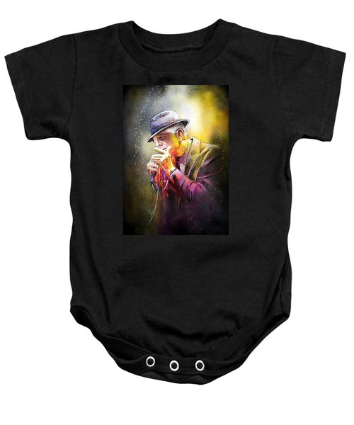 Leonard Cohen 02 Baby Onesie