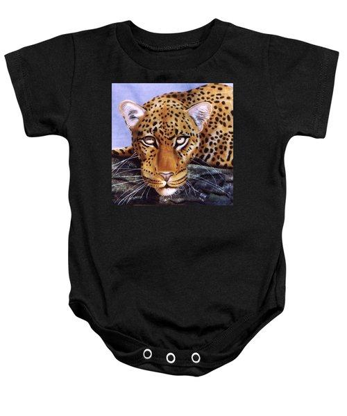 Leopard In A Tree Baby Onesie