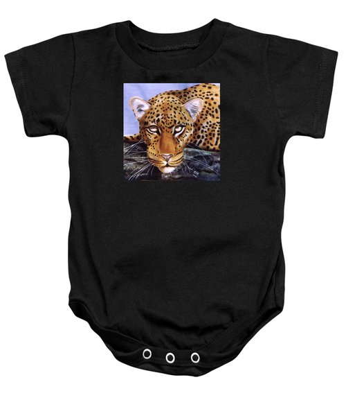 Leopard In A Tree Baby Onesie