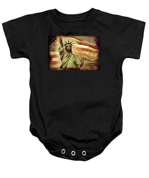 Declaration Of Independence Baby Onesie