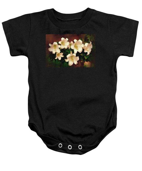 Lilies Aglow Baby Onesie