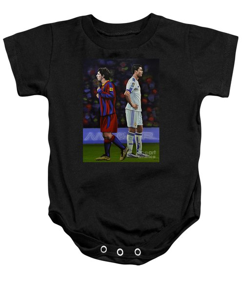 Lionel Messi And Cristiano Ronaldo Baby Onesie