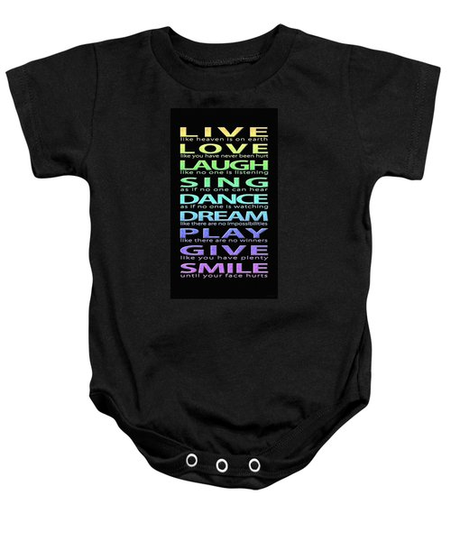 Live Love Laugh Baby Onesie