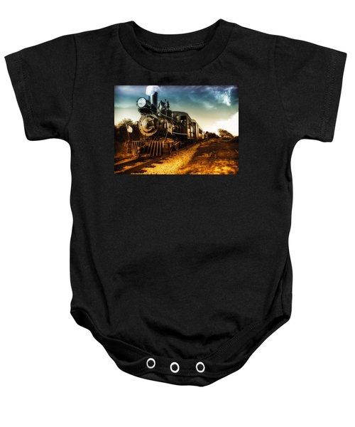 Locomotive Number 4 Baby Onesie