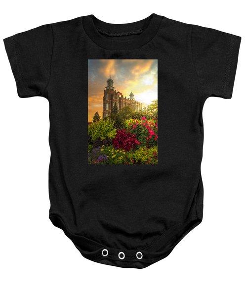 Logan Temple Garden Baby Onesie