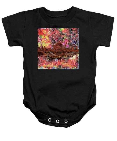 London Skyline Abstract 5 Baby Onesie