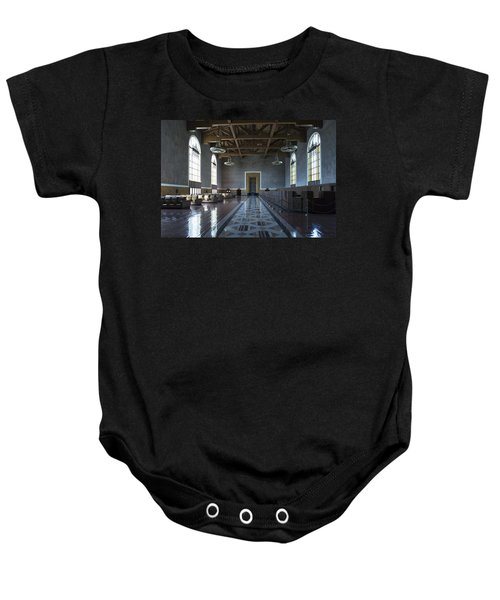 Los Angeles Union Station Original Ticket Lobby Baby Onesie