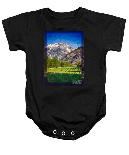 Lost River Airport Runway Abstract Landscape Painting Baby Onesie