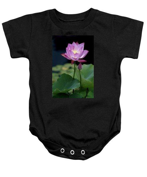 Lotus Blossom Baby Onesie