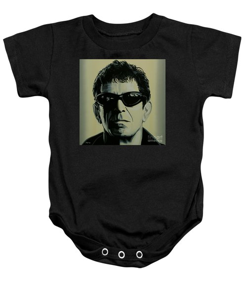 Lou Reed Painting Baby Onesie by Paul Meijering