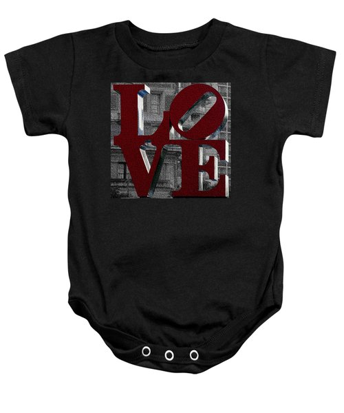 Love Philadelphia Red Mosaic Baby Onesie