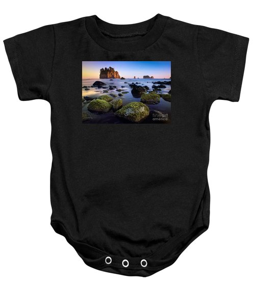 Low Tide At Second Beach Baby Onesie