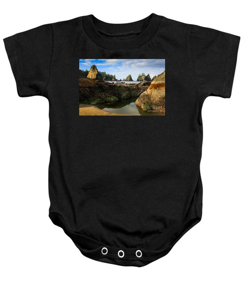 Low Tide At The Arches Baby Onesie