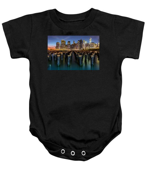 Lower Manhattan Baby Onesie