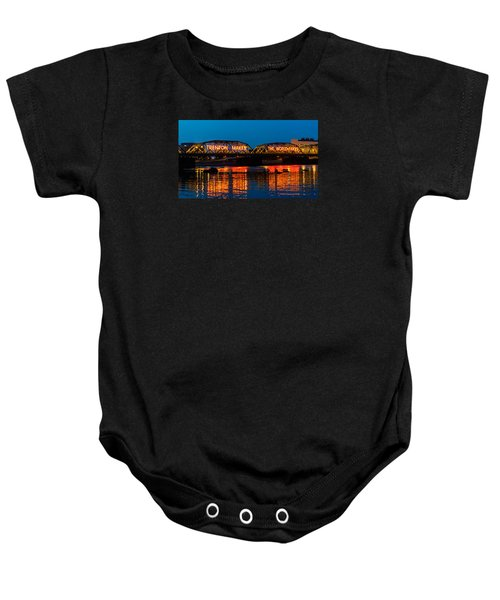Lower Trenton Bridge Baby Onesie
