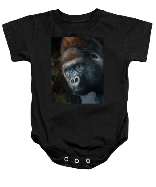 Lowland Gorilla Painting Baby Onesie
