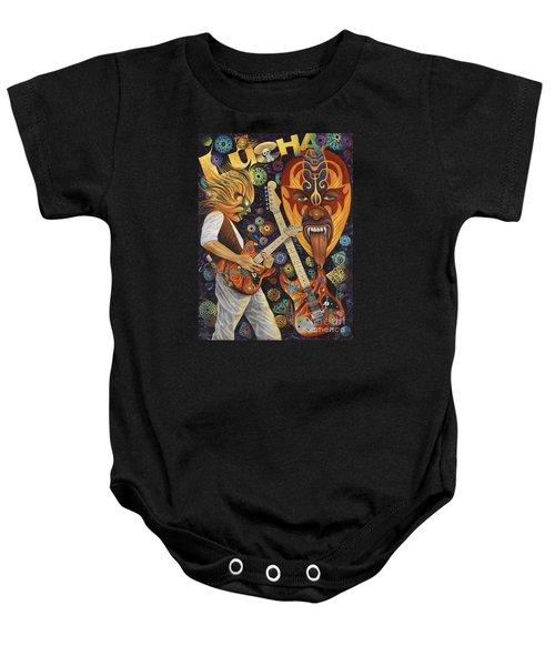 Lucha Rock Baby Onesie by Ricardo Chavez-Mendez