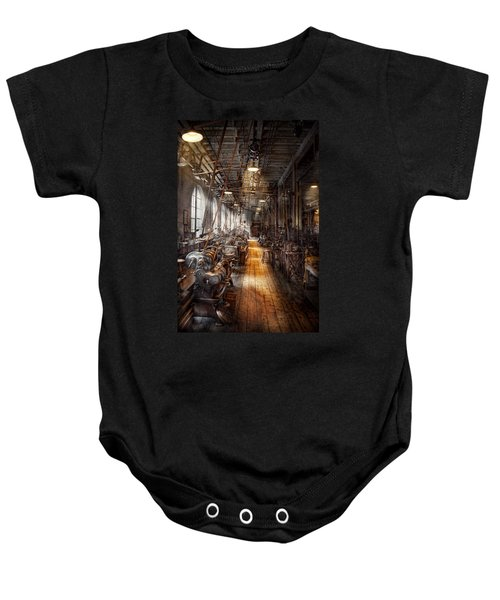 Machinist - Welcome To The Workshop Baby Onesie