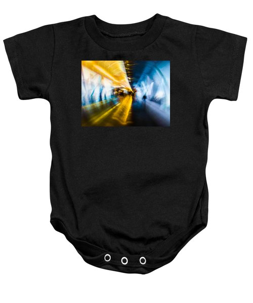 Baby Onesie featuring the photograph Main Access Tunnel Nyryx Station by Alex Lapidus