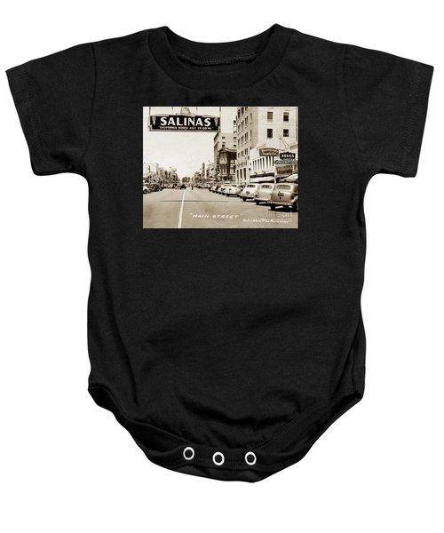 Main Street Salinas California 1941 Baby Onesie