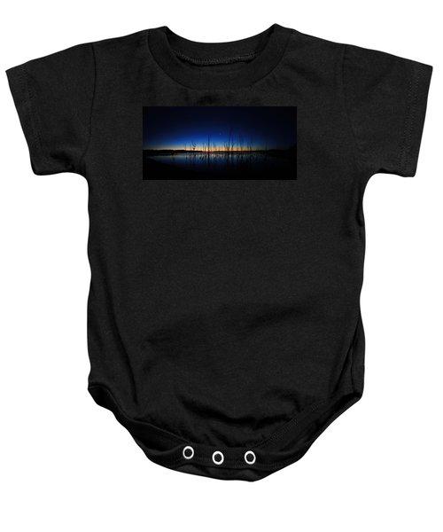 Manasquan Reservoir At Dawn Baby Onesie