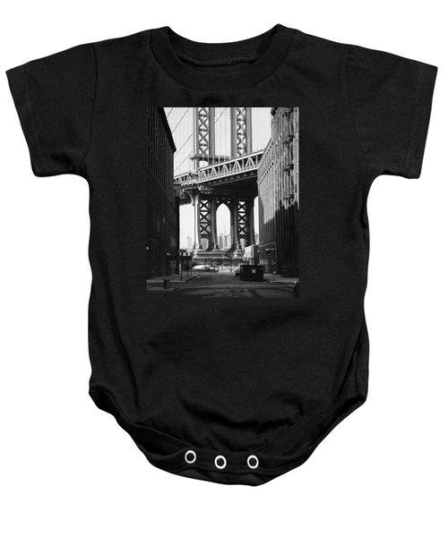 Manhattan Bridge Baby Onesie
