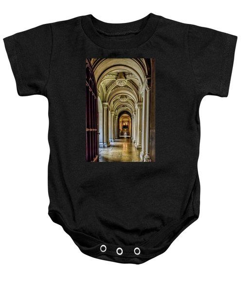 Mansion Hallway Baby Onesie