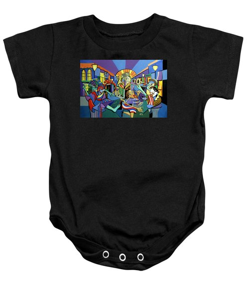 Mardi Gras Lets Get The Party Started Baby Onesie