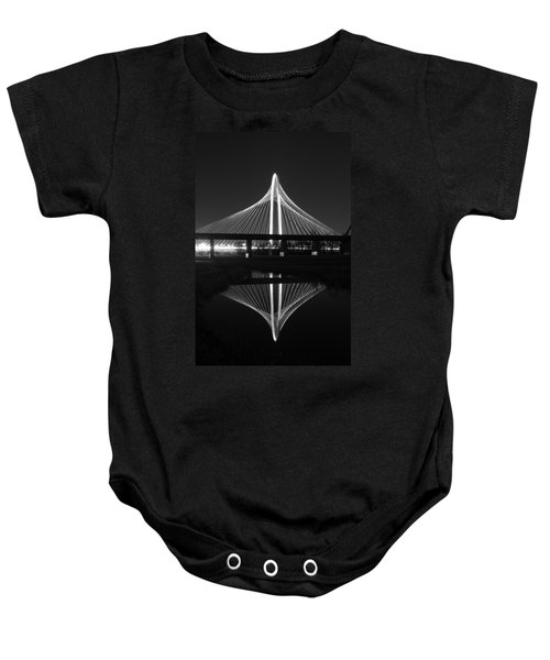 Margaret Hunt Hill Bridge Reflection Baby Onesie